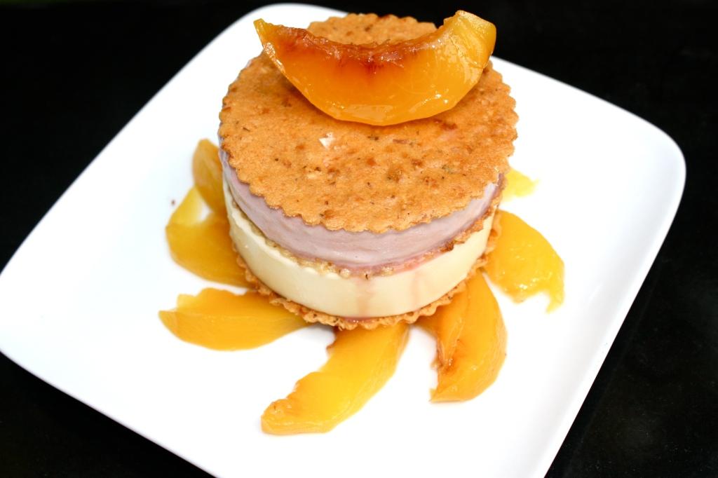 peach melba napoleon
